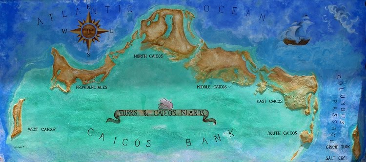 Map of the Turks and Caicos Islands